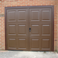 Side Hinged Brown Georgian Garage Door