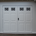 Side Hinged White Beaumont with windows Garage Door