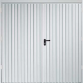 Side Hinged Vertical White Garage Door